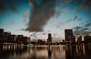 Night Time shot of Downtown Orlando